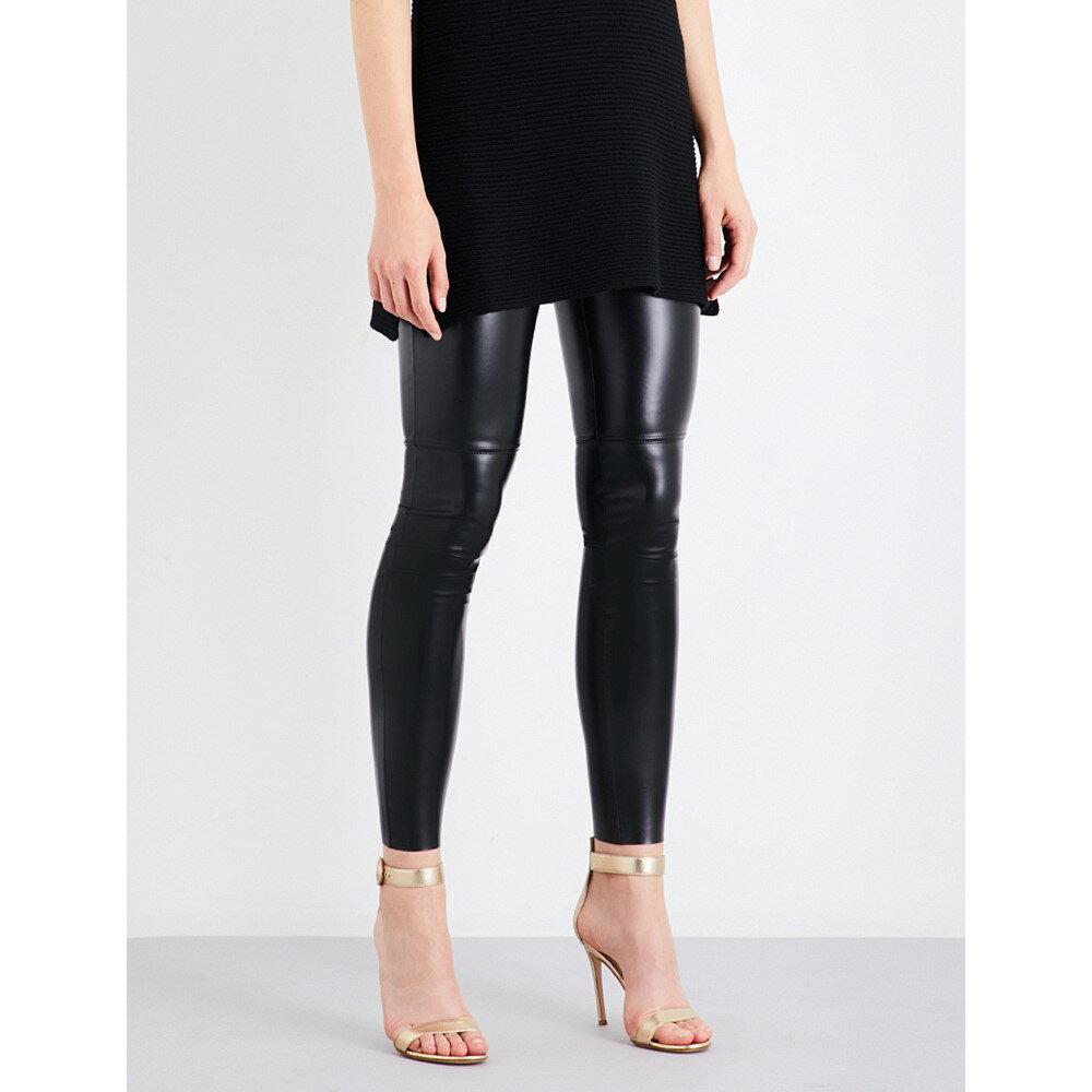 ウォルフォード レディース インナー・下着 スパッツ・レギンス【estella leatherette leggings】Black