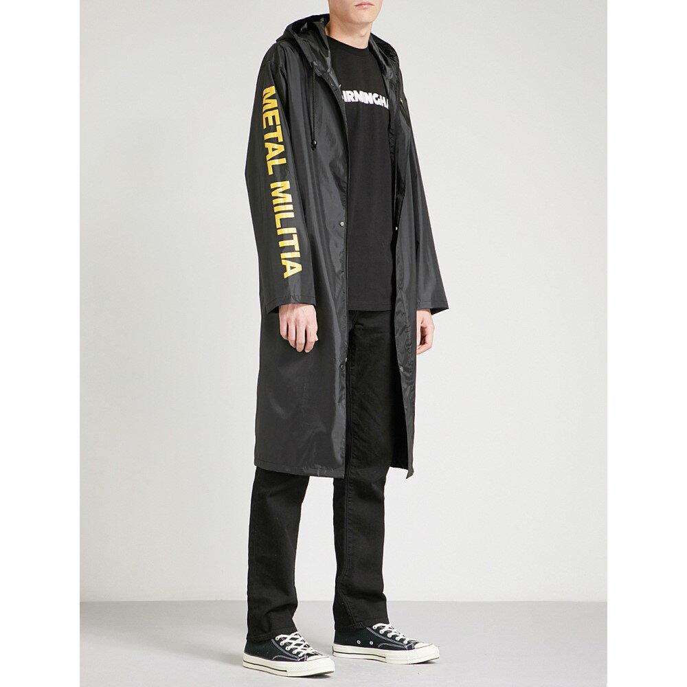 メタリカ メンズ アウター レインコート【metal militia shell raincoat】Black