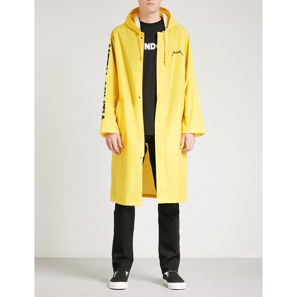 メタリカ メンズ アウター レインコート【metal militia shell raincoat】Yellow
