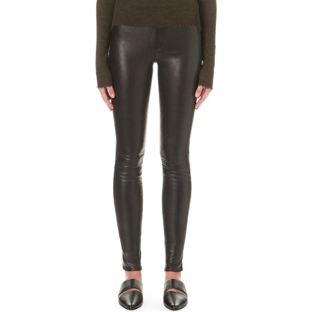 ヘルムート ラング レディース インナー・下着 スパッツ・レギンス【skinny stretch-leather leggings】Black