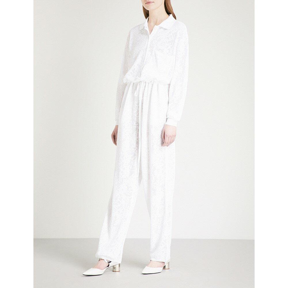 ジバンシー レディース ワンピース・ドレス オールインワン【wide-leg lace jumpsuit】White