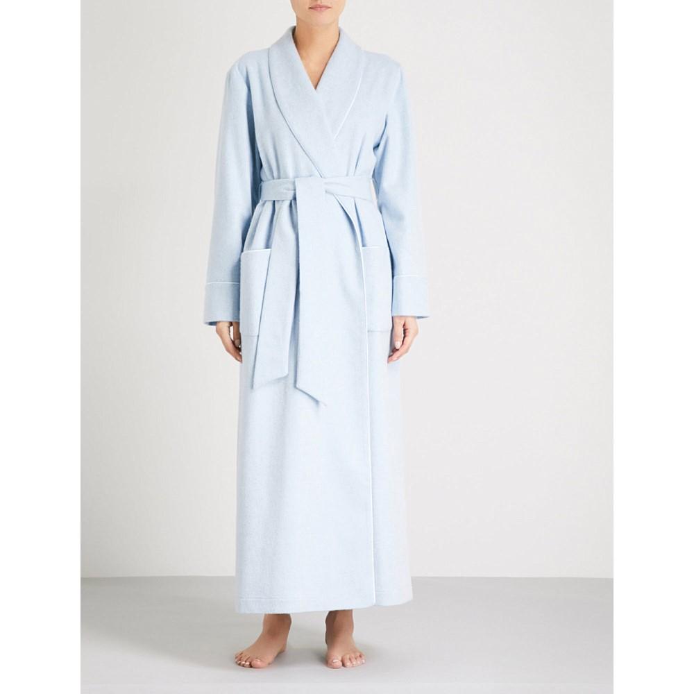 ジョンストンズ レディース インナー・下着 ガウン・バスローブ【ladies cashmere dressing gown】Light blue melange