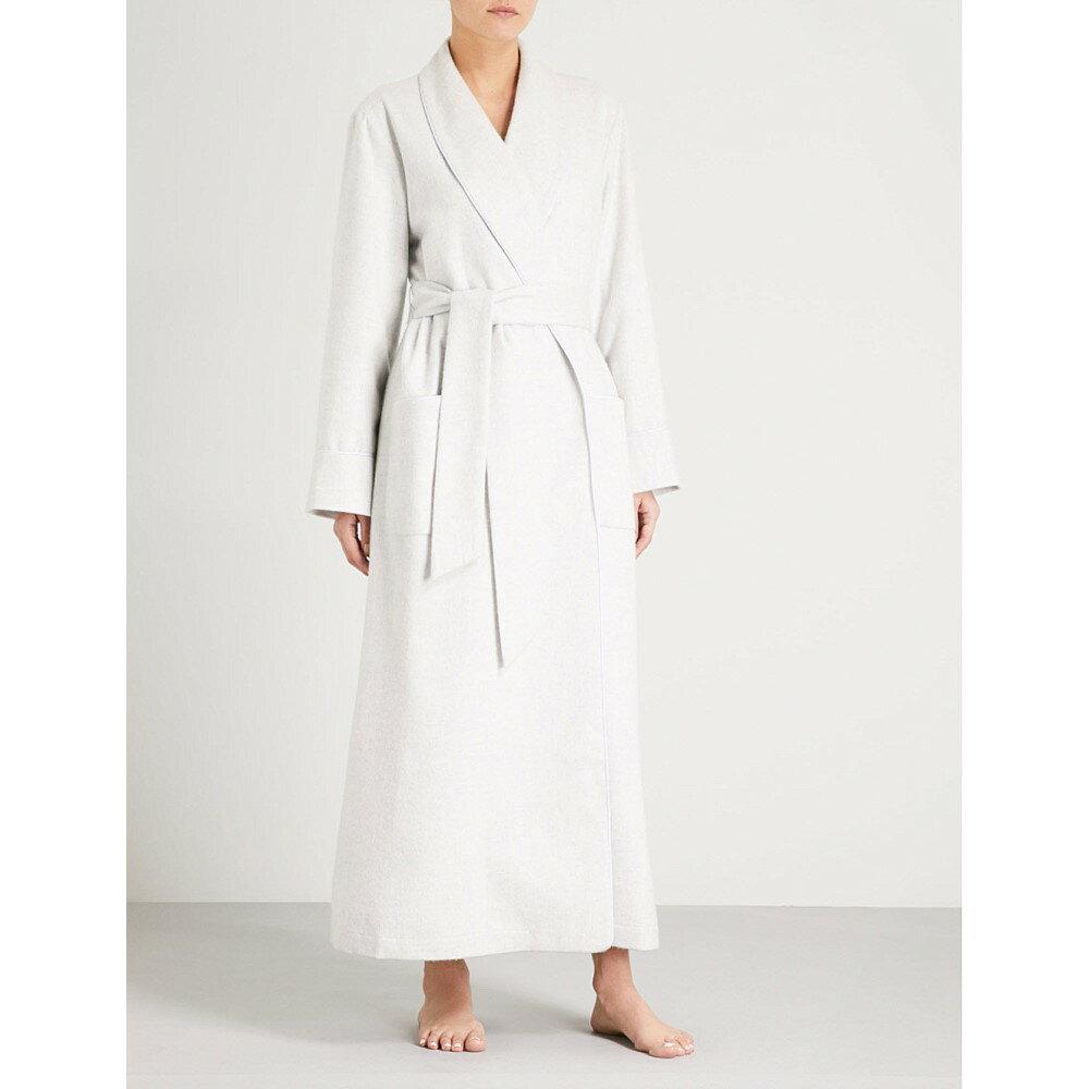 ジョンストンズ レディース インナー・下着 ガウン・バスローブ【ladies cashmere dressing gown】Light grey melange