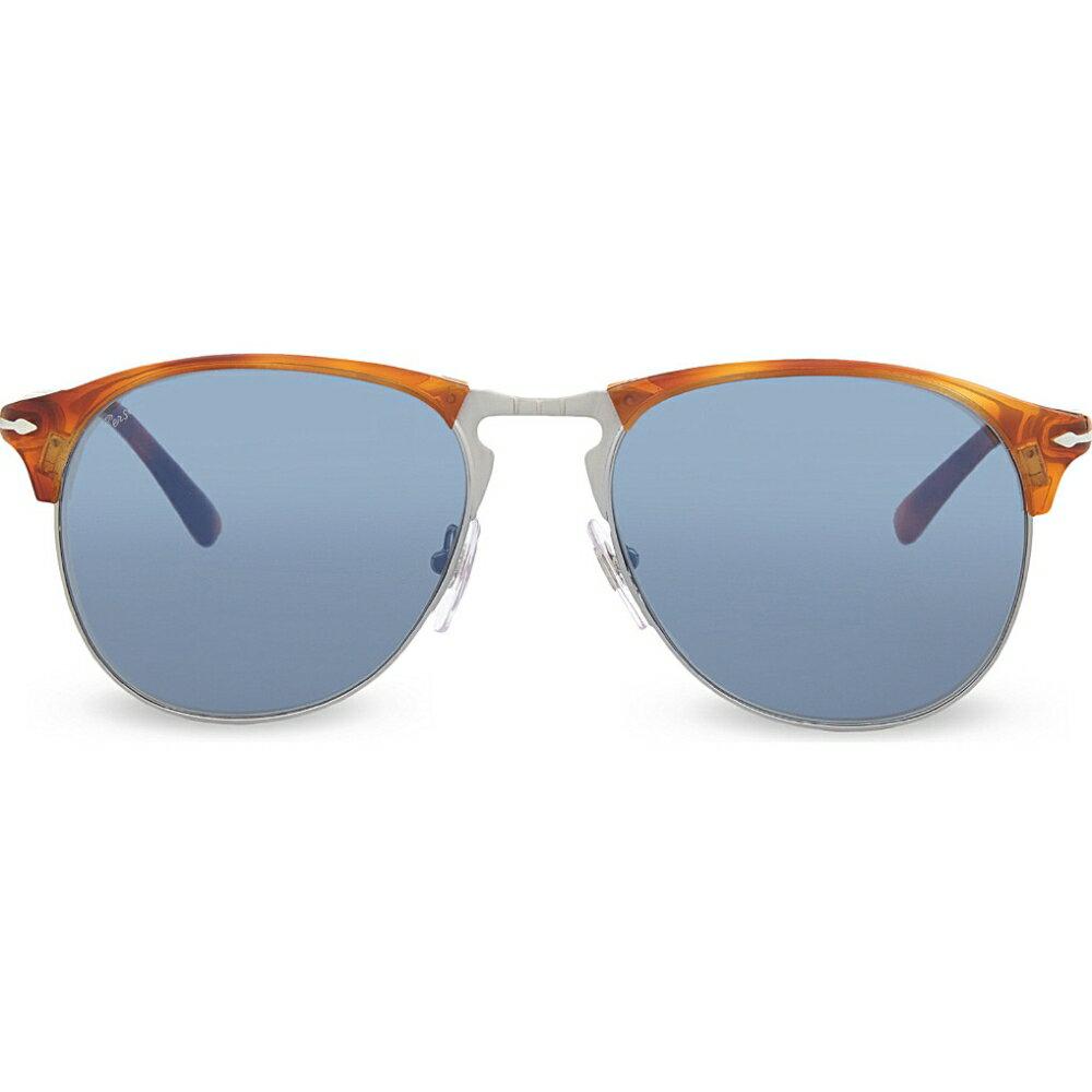 ペルソール PERSOL メンズ アクセサリー メガネ・サングラス【PO8649S 1968 Terra di Siena pilot sunglasses】Terra di siena