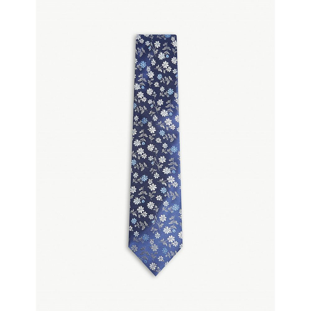 ファッション | Navy Blue Silk Tie Turkeys Necktie 小物