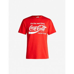 <strong>ファセッタズム</strong> FACETASM メンズ Tシャツ トップス【x coca cola cotton-jersey t-shirt】Red