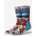 スタンス STANCE メンズ インナー 下着 ソックス【Iron Man Comic s Crew Socks】Gray Combo