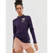 ナイキ Nike Training レディース サッカー トップス【Nike Football England World Cup Squad Half Zip Drill Top】Purple dynasty