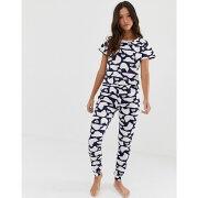 ラウンジャブル Loungeable レディース インナー・下着 パジャマ・上下セット【polar bear print pyjama set】Blue/white