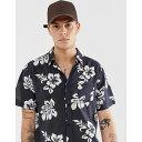 ラスティ Rusty メンズ トップス シャツ【shore lines printed shirt】Black