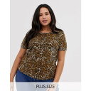 ショッピングレオパード ブレイブソウル Brave Soul Plus レディース トップス Tシャツ【t-shirt in leopard print】Leopard print