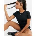 ナイキ Nike Training レディース Tシャツ トップス【short sleeve mesh training top in black】Black/white