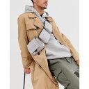 ショッピングポケット エイソス ASOS WHITE メンズ ショルダーバッグ バッグ【multi pocket cross body bag in silver】Silver