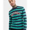 エイソス ASOS DESIGN メンズ 長袖Tシャツ トップス【striped long sleeve t-shirt with city print】Multi