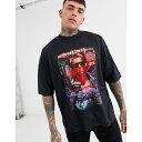 ショッピングターミネーター エイソス ASOS DESIGN メンズ Tシャツ トップス【Terminator oversized t-shirt with large front print】Black