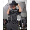ショッピングブラック エイソス ASOS DESIGN メンズ ツナギ・オールインワン ボイラースーツ トップス【Asos Design Western Short Boilersuit With Fringing】Black