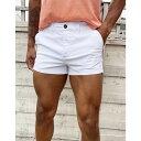 エイソス ASOS DESIGN メンズ ショートパンツ ボトムス・パンツ【skinny chino shorter shorts in white】White