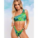 エイソス ASOS DESIGN レディース ボトムのみ 水着・ビーチウェア【SWIM GLAM mix and match thong bikini bottom in exotic palm print】Exotic palm print