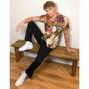 ショッピングit エイソス ASOS DESIGN メンズ シャツ トップス【regular fit shirt in dragon floral orange print】Orange