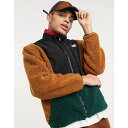 ショッピングカール カール カナイ Karl Kani メンズ フリース トップス【OG block teddy fleece windrunner in beige/green】Beige