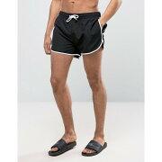 【残り一点限り!】【サイズ:XS】ニュールック【New Look Runner Swim Shorts In Black】メンズ 水着・ビーチウェア 海パン【あす楽】