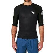 【残り一点限り!】【サイズ:S】リップカール【Dawn Patrol 1.5mm Back Zip Short Sleeve Wetsuit Jacket Black】メンズ 水着・ビーチウェア【あす楽】