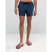 【残り一点限り!】【サイズ:XL】エイソス【Swim Shorts In Navy Short Length】メンズ 水着・ビーチウェア 海パン【あす楽】