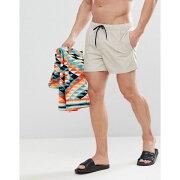 【残り一点限り!】【サイズ:XS】エイソス【Swim Shorts In Stone In Mid Length】メンズ 水着・ビーチウェア 海パン【あす楽】
