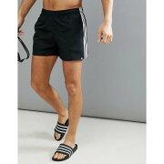 【残り一点限り!】【サイズ:XL】アディダス adidas【Swim Shorts With Stripes In Black】メンズ 水着・ビーチウェア 海パン【あす楽】