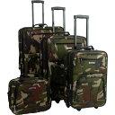 ショッピングキャリー ロックランド Rockland メンズ スーツケース・キャリーバッグ バッグ【Journey 4pc Luggage Set】Bootcamp Olive