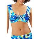 トミー バハマ TOMMY BAHAMA レディース トップのみ 水着・ビーチウェア【Swirl Tide Wide Strap Bikini Top】Azure Blue