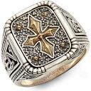 コンスタンティーノ KONSTANTINO メンズ 指輪・リング シグネットリング ジュエリー・アクセサリー【Stavros Square Signet Ring】Silver/Gold