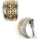 コンスタンティーノ KONSTANTINO レディース イヤリング・ピアス フープピアス ジュエリー・アクセサリー【Selene Diamond Clip Hoop Earrings】Silver/Gold