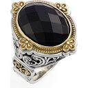 コンスタンティーノ KONSTANTINO レディース 指輪・リング ジュエリー・アクセサリー【'Nykta' Faceted Stone Ring】Silver/Gold/Black Onyx