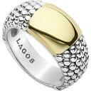 ラゴース LAGOS レディース 指輪・リング ジュエリー・アクセサリー【Signature Caviar High Bar Ring】Silver/Gold