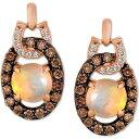 ル ヴァン Le Vian レディース イヤリング・ピアス ドロップピアス ジュエリー・アクセサリー【Neopolitan Opal (5/8 ct. t.w.) & Diamond (1/3 ct. t.w.) Doorknocker Drop Earrings in 14k Rose Gold】Rose Gold