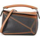 ショッピングパズル ロエベ Loewe レディース ショルダーバッグ バッグ【puzzle mini two-tone leather cross-body bag】Black