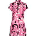 リキソ Rixo レディース パーティードレス ミニ丈 ワンピース・ドレス【lolita printed silk-chiffon mini dress】Pink