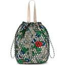 ガニー Ganni レディース バッグ バケットバッグ【Fishnet Bucket Bag】Brazilian Sand