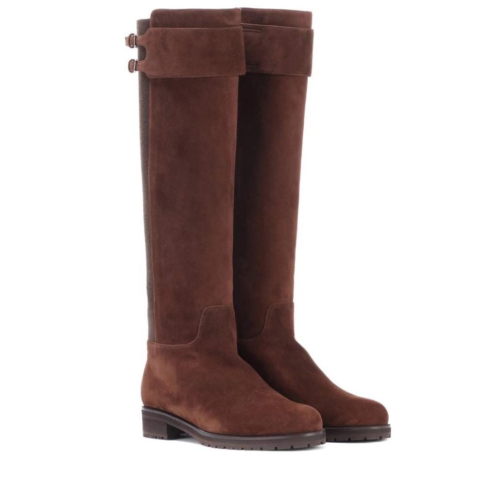 ロロピアーナ レディース シューズ・靴 ブーツ【Hamstead suede boots】Brown