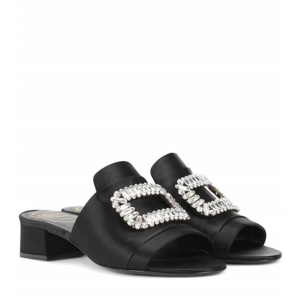 ロジェ ヴィヴィエ レディース シューズ・靴 サンダル・ミュール【Satin sandals】Black