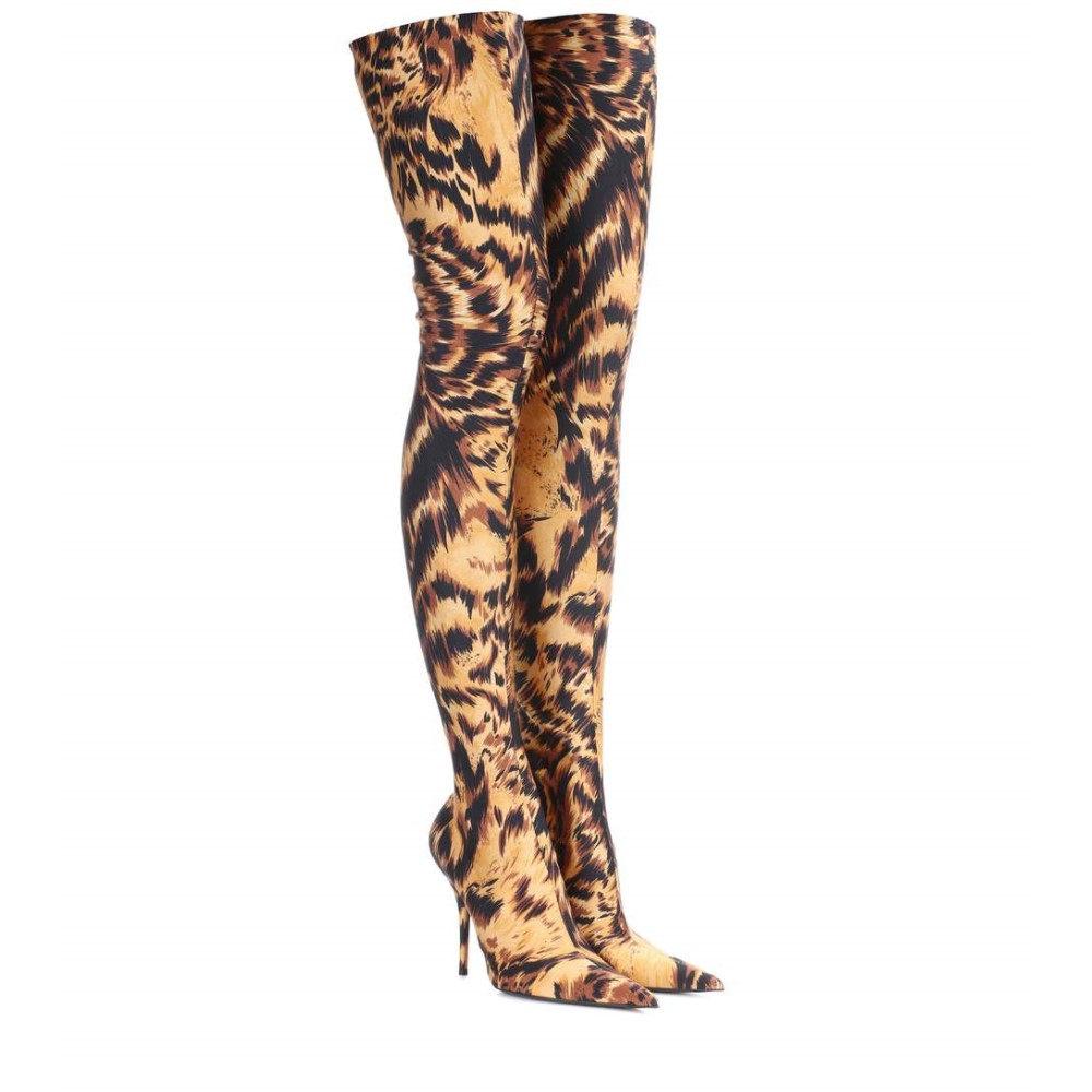 バレンシアガ レディース シューズ・靴 ブーツ【Knife over-the-knee boots】Marron