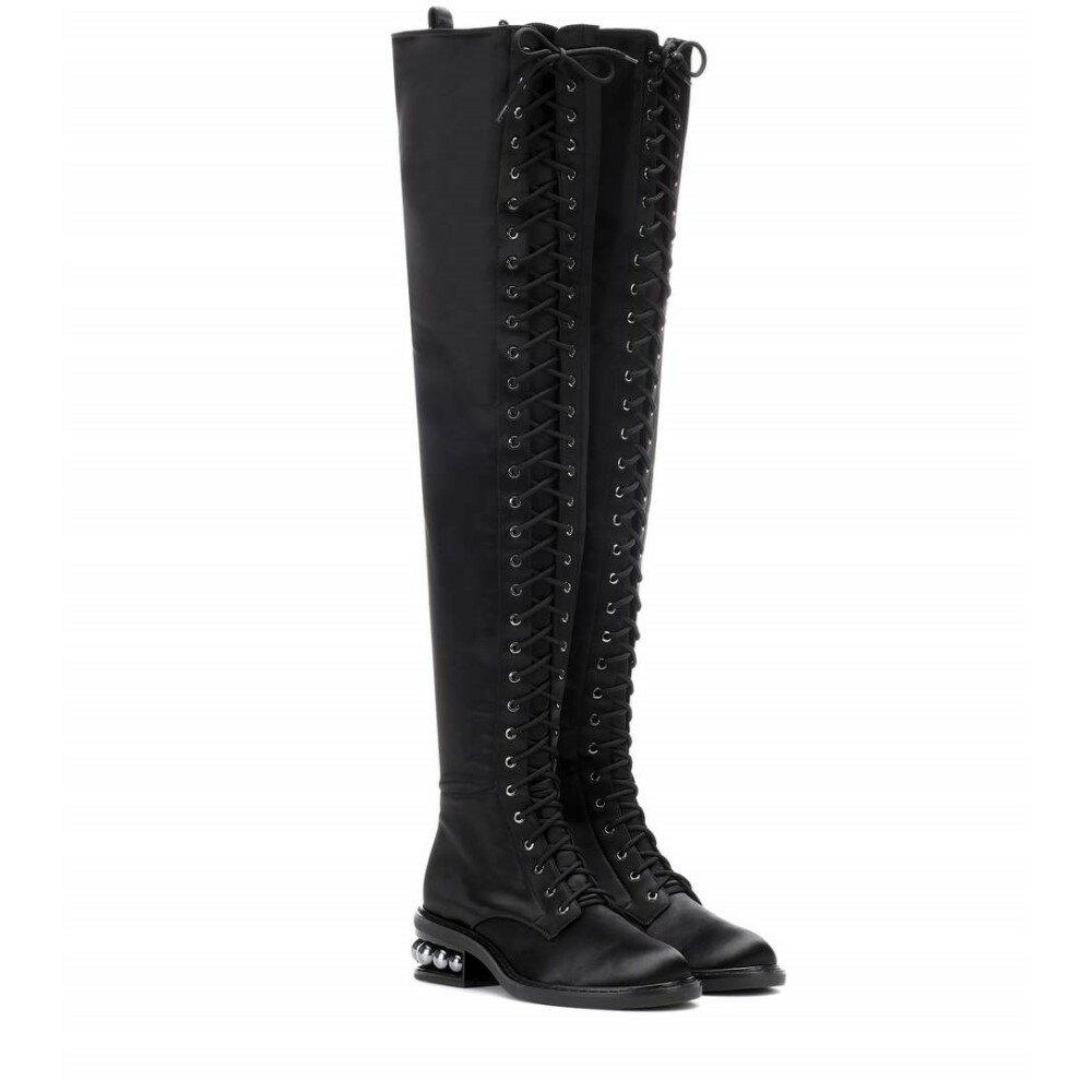 ニコラス カークウッド レディース シューズ・靴 ブーツ【Casati satin over-the-knee boots】Black