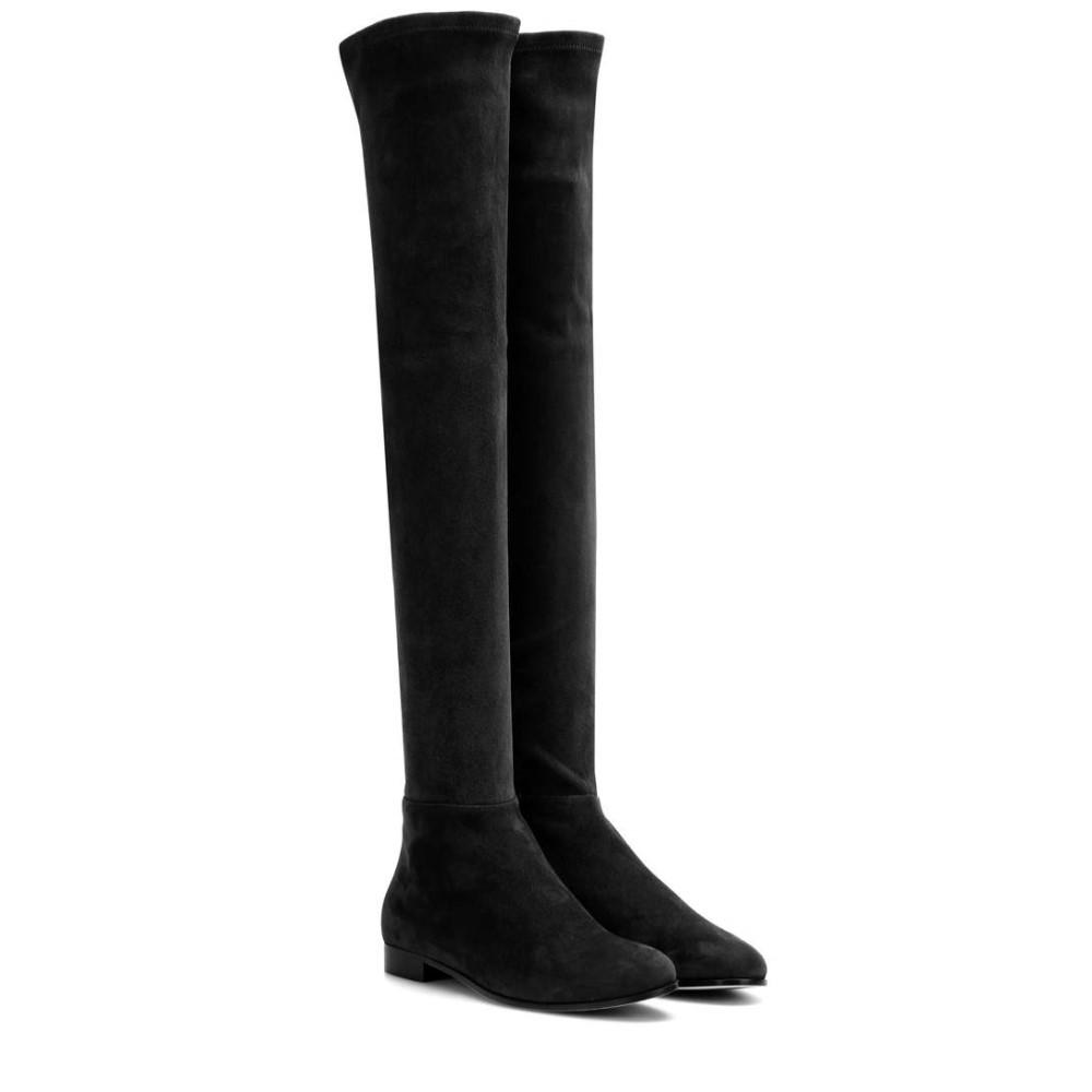 ジミー チュウ レディース シューズ・靴 ブーツ【Myren Flat suede over-the-knee boots】BLACK
