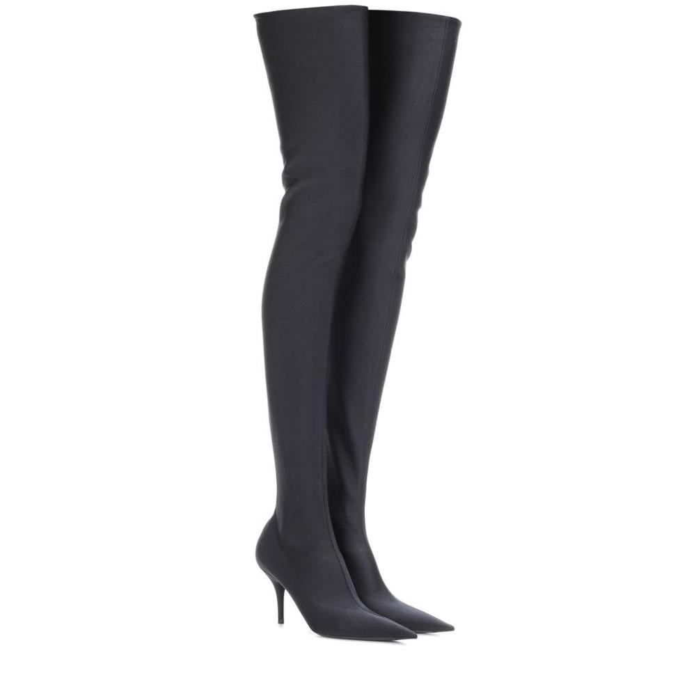 バレンシアガ レディース シューズ・靴 ブーツ【Knife over-the-knee boots】Noir