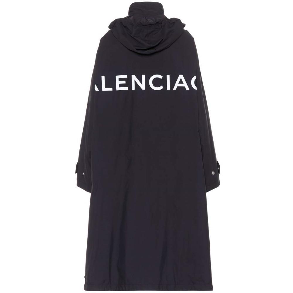 バレンシアガ レディース アウター レインコート【Printed raincoat】Noir