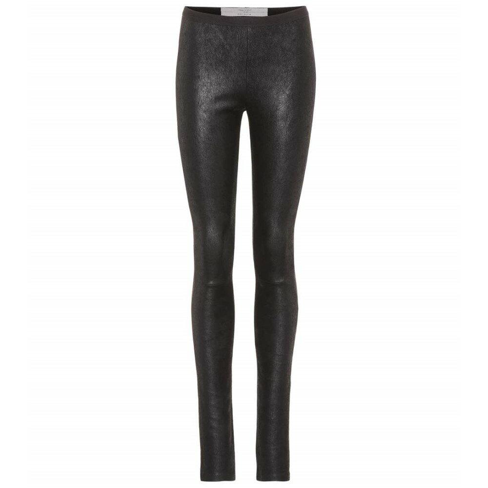 リック オウエンス レディース インナー・下着 スパッツ・レギンス【Leather leggings】Black