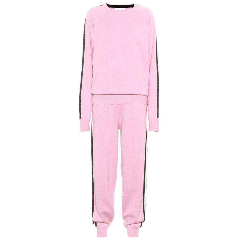 オリヴィア ヴォン ホール レディース インナー・下着 パジャマ・上下セット【Missy Malibu silk and cashmere tracksuit】Candy Pink