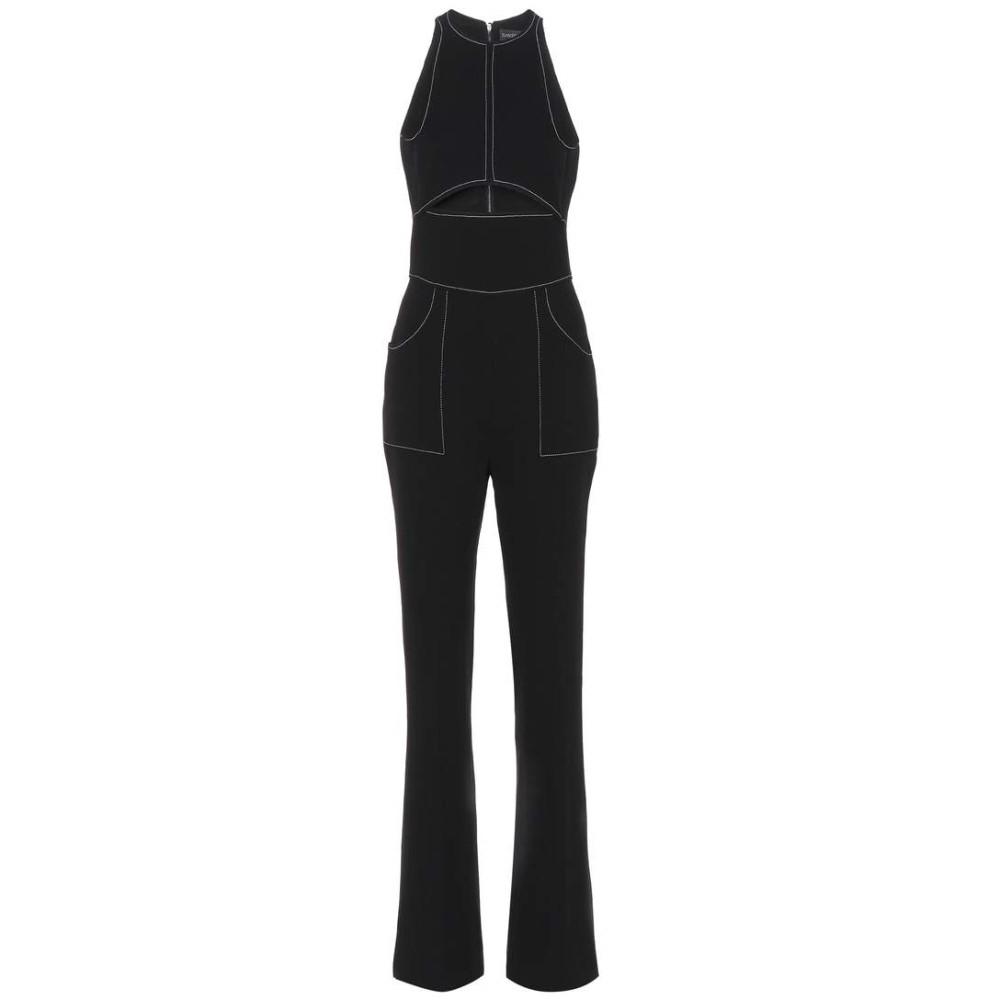 デヴィッド コーマ レディース ワンピース・ドレス オールインワン【Wool-blend crepe jumpsuit】Black/White