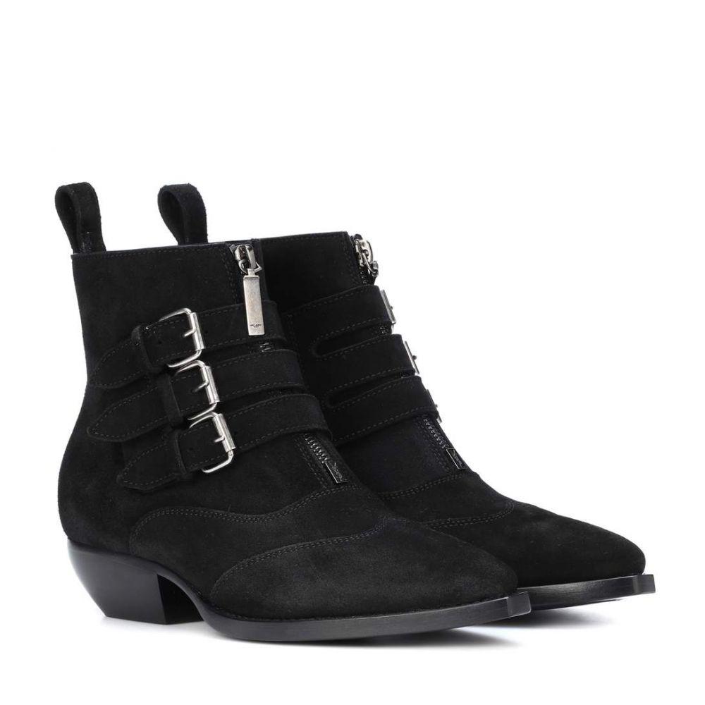 イヴ サンローラン レディース シューズ・靴 ブーツ【Theo 45 suede ankle boots】Nero